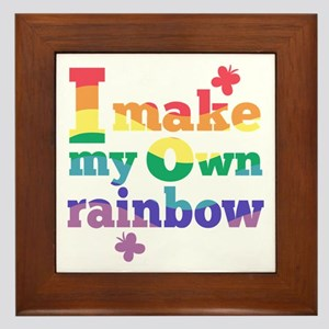 I make my own rainbow Framed Tile