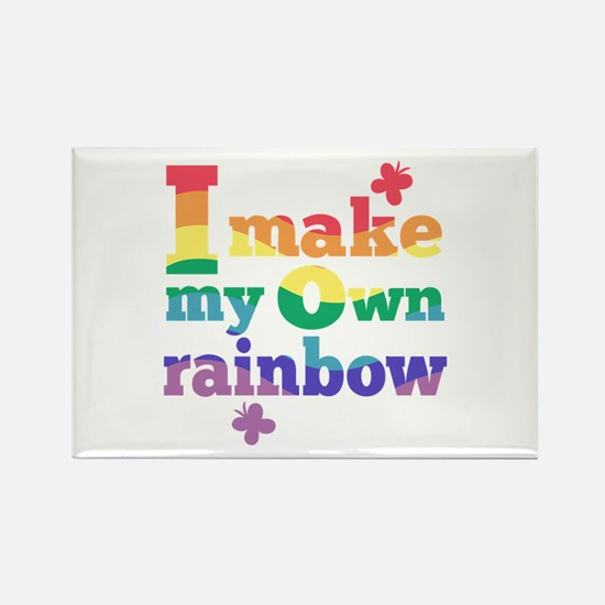 I make my own rainbow Rectangle Magnet