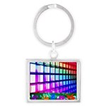 Digital Disco Cupids Landscape Keychain