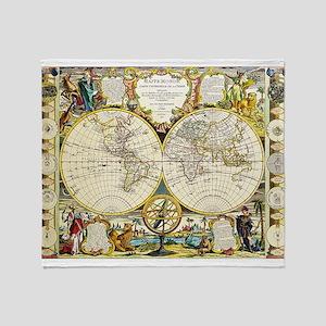 World Map 1755 Throw Blanket