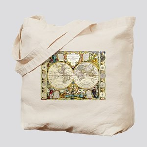 World Map 1755 Tote Bag