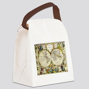 World Map 1755 Canvas Lunch Bag
