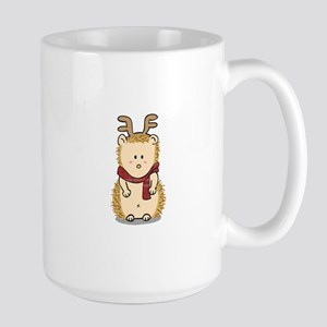 Cute Hedgehog with Reindeer Hair band Mug