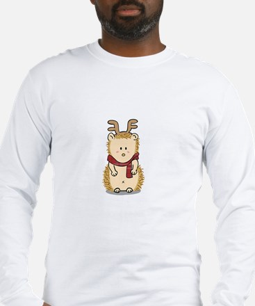 Cute Hedgehog with Reindeer Hair band Long Sleeve