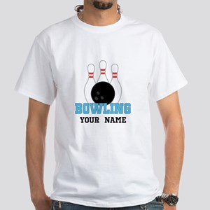 Personalized Bowling White T-Shirt