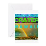 Damond Head Crater Hawaii Greeting Card