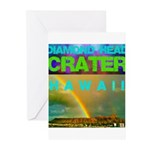 Damond Head Crater Hawaii Greeting Cards (Pk of 20
