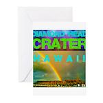 Damond Head Crater Hawaii Greeting Cards (Pk of 10