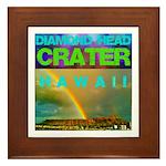 Damond Head Crater Hawaii Framed Tile
