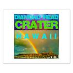 Damond Head Crater Hawaii Small Poster
