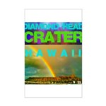 Damond Head Crater Hawaii Mini Poster Print