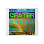 Damond Head Crater Hawaii Throw Blanket