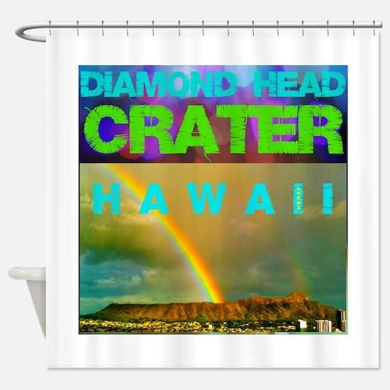 Damond Head Crater Hawaii Shower Curtain