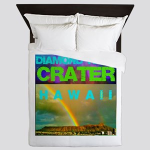 Damond Head Crater Hawaii Queen Duvet