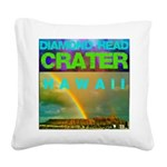 Damond Head Crater Hawaii Square Canvas Pillow