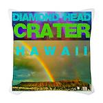 Damond Head Crater Hawaii Woven Throw Pillow