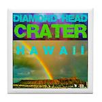 Damond Head Crater Hawaii Tile Coaster
