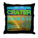 Damond Head Crater Hawaii Throw Pillow