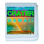 Damond Head Crater Hawaii baby blanket
