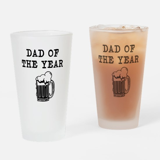 dad of the year Drinking Glass