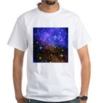 Galaxy Space Scene Graphic White T-Shirt