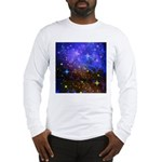 Galaxy Space Scene Graphic Long Sleeve T-Shirt