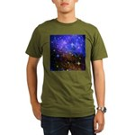 Galaxy Space Scene Graphic Organic Men's T-Shirt (