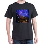 Galaxy Space Scene Graphic Dark T-Shirt