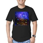 Galaxy Space Scene Graphic Men's Fitted T-Shirt (d