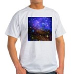 Galaxy Space Scene Graphic Light T-Shirt