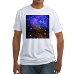 Galaxy Space Scene Graphic Fitted T-Shirt