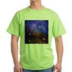 Galaxy Space Scene Graphic Green T-Shirt