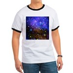Galaxy Space Scene Graphic Ringer T