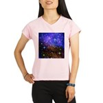 Galaxy Space Scene Graphic Performance Dry T-Shirt