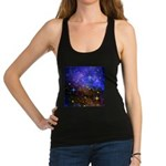 Galaxy Space Scene Graphic Racerback Tank Top