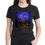 Galaxy Space Scene Graphic Women's Dark T-Shirt