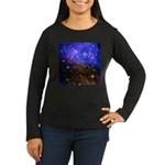 Galaxy Space Scene Graphic Women's Long Sleeve Dar