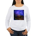 Galaxy Space Scene Graphic Women's Long Sleeve T-S