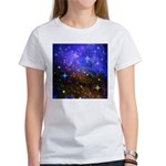 Galaxy Space Scene Graphic Women's T-Shirt