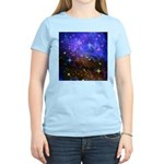 Galaxy Space Scene Graphic Women's Light T-Shirt