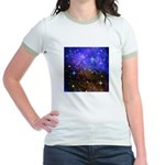 Galaxy Space Scene Graphic Jr. Ringer T-Shirt