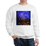 Galaxy Space Scene Graphic Sweatshirt