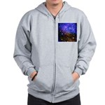 Galaxy Space Scene Graphic Zip Hoodie