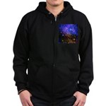Galaxy Space Scene Graphic Zip Hoodie (dark)