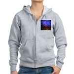 Galaxy Space Scene Graphic Women's Zip Hoodie