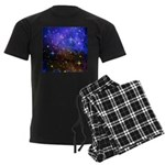 Galaxy Space Scene Graphic Men's Dark Pajamas