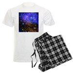 Galaxy Space Scene Graphic Men's Light Pajamas