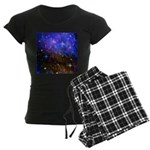 Galaxy Space Scene Graphic Women's Dark Pajamas