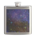 Galaxy Space Scene Graphic Flask
