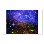 Galaxy Space Scene Graphic Sticker (Rectangle 10 p